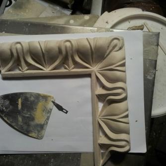 Mitred corner modelled